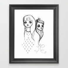 Heavy Crown Framed Art Print