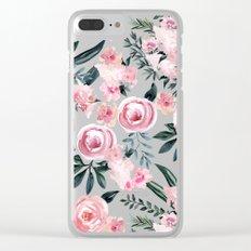 Night Rose Garden Clear iPhone Case