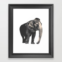 Elephant in Kippah Framed Art Print