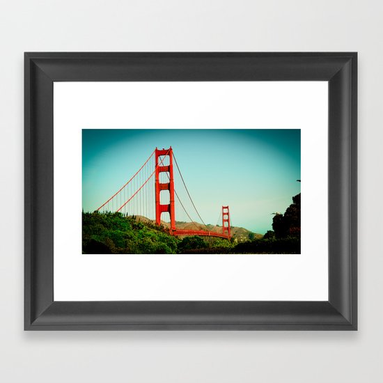 The Golden Gate Bridge at Day Framed Art Print