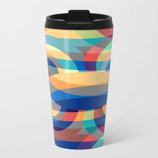 Marine abstraction II Metal Travel Mug