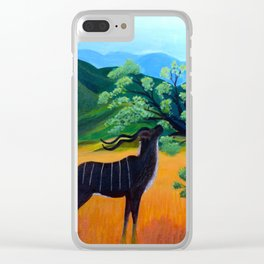 Kudu Landscape Acrylic Clear iPhone Case