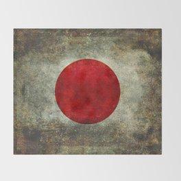 National flag of Japan - Super Grunge Throw Blanket