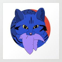 The Deadliest Cat Art Print