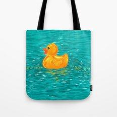 Quack Quack Says the Plastic Duck! Tote Bag