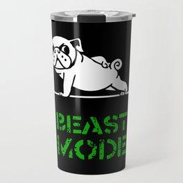 Beast Mode Pug Travel Mug