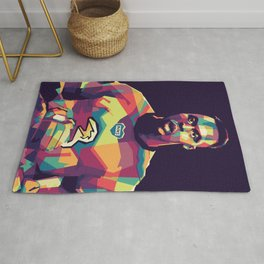 Edouard Mandy on WPAP Pop Art Portrait Rug