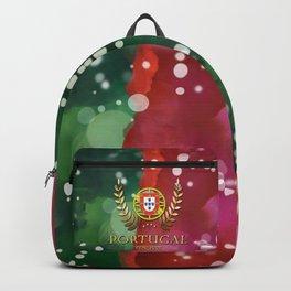 Portugal Flag Pattern Backpack