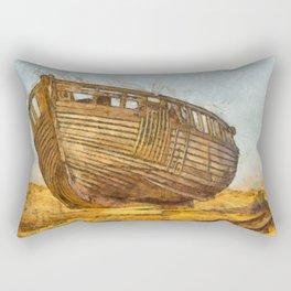 Painted Boat Dungeness Rectangular Pillow