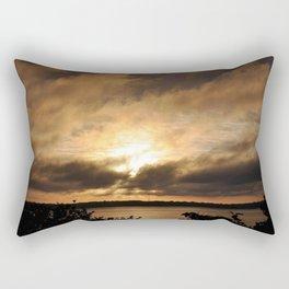 Misty Sunset on the PI Basin Rectangular Pillow