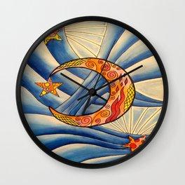 Moon & Stars Wall Clock