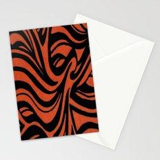 Orange & Black Waves Stationery Cards