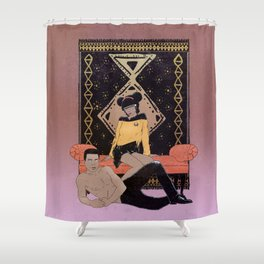 Sexy La Forge Shower Curtain