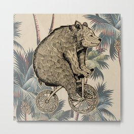 palm bear Metal Print