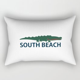 South Beach - Miami. Rectangular Pillow