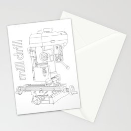 Mill Drill - Milling/Drilling Machine Stationery Cards