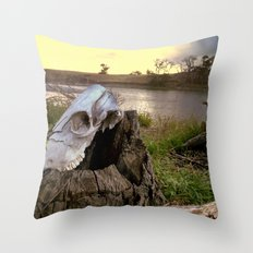 Trail Marker Throw Pillow