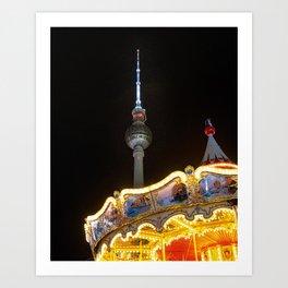 Berlin Carousel Art Print