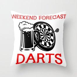Darts Dartboard Beer  Drinking Arrow  Sports Gift  Throw Pillow