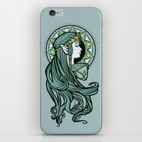 nouveau iPhone & iPod Skins featuring Zelda Nouveau by Karen Hallion Illustrations