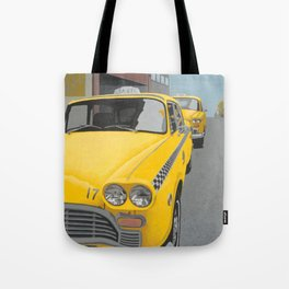 Taxi Stand Tote Bag