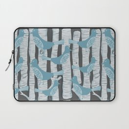 For the Birds and Birch Trees Laptop Sleeve