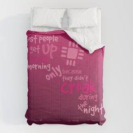 Croak-Pink Comforters