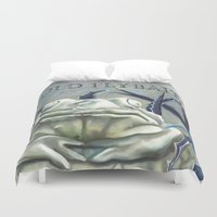 """haunted mansion Duvet Covers featuring Disneyland Haunted Mansion inspired """"Old FlyBait""""  by ArtisticAtrocities"""