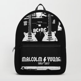 Malcolm Young - AC DC - Guitar - Rock Music - Pop Culture Backpack