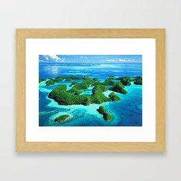 Palau Island Paradise Framed Art Print
