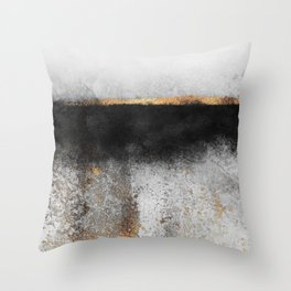 Soot And Gold Throw Pillow