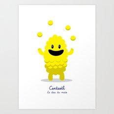 Centeotl - Le dieu du maïs (Lil Gods) Art Print