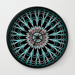 Psychedelic Illusion Mandela Wall Clock