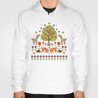 wild things Hoodies featuring Woodland Wild Things by Angie Spurgeon