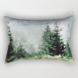 Pine Trees 2 Rectangular Pillow