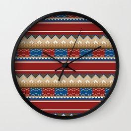 Navajo Pattern 2 Wall Clock