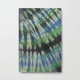 Tie Dye in Blue and Green 11 Metal Print
