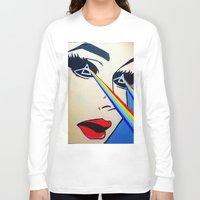 floyd Long Sleeve T-shirts featuring Pink Floyd by Gabrielle Wall