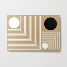 Lines & Circles Metal Print