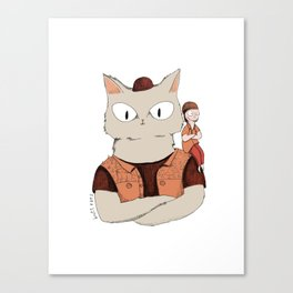 Walter the metal cat Canvas Print
