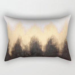 Metallic Abstract Rectangular Pillow