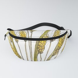Golden wheat painting Fanny Pack