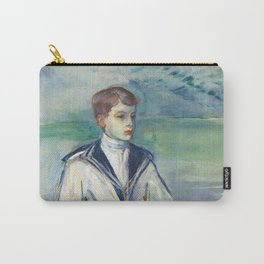 """Henri de Toulouse-Lautrec """"L'Enfant au chien, fils de Madame Marthe et la chienne Pamela-Taussat"""" Carry-All Pouch"""