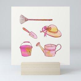 Little Gardener's Tools Mini Art Print