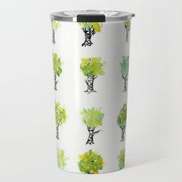 Summer Birch Watercolor Travel Mug