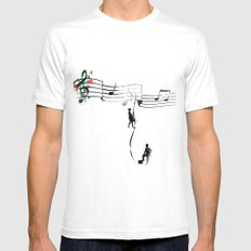 TANAN (Fighting for Love) MEDIUM White Mens Fitted Tee