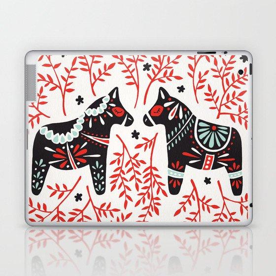Swedish Dala Horses – Red and Black Palette Laptop & iPad Skin