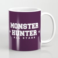 monster hunter Mugs featuring Monster Hunter All Stars - BD by Bleached ink