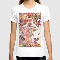 boston T-shirts featuring Boston by MapMapMaps.Watercolors