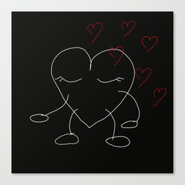 Valentine's girl by Lu Canvas Print